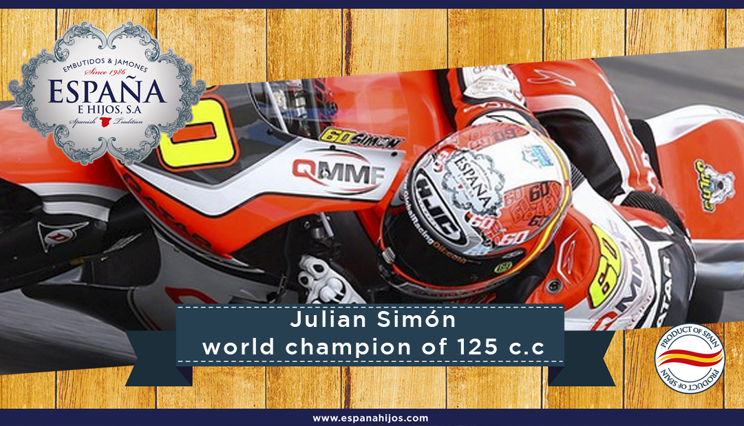 Julian Simón world champion of 125 c.c